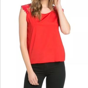 Red Lace Top NWT Julia by Love